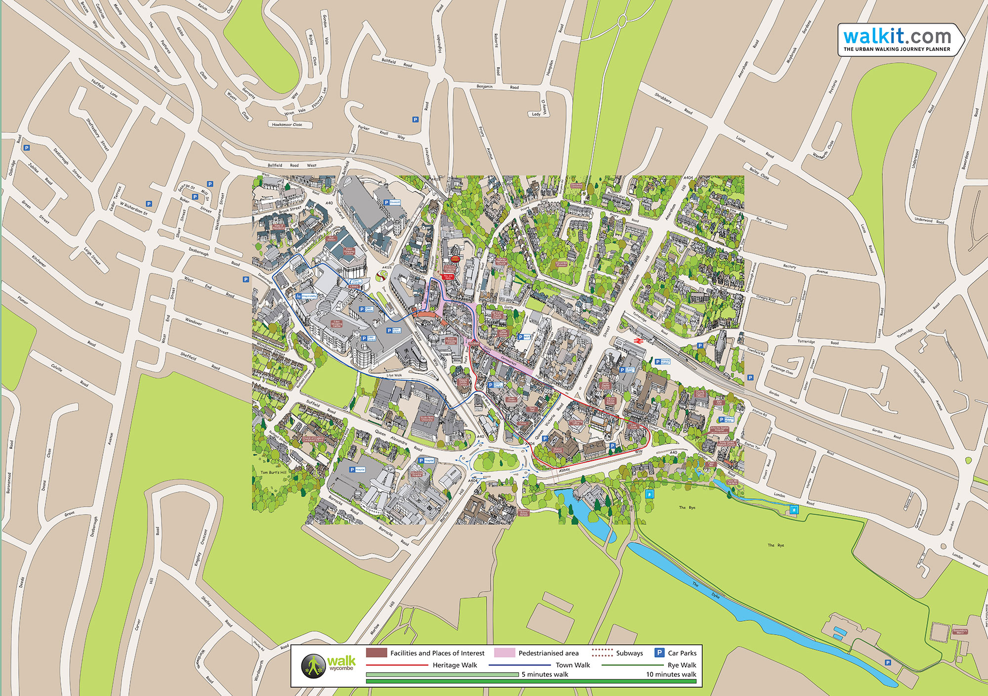 High Wycombe Silvermaze Mapping Specialist - Walking map planner