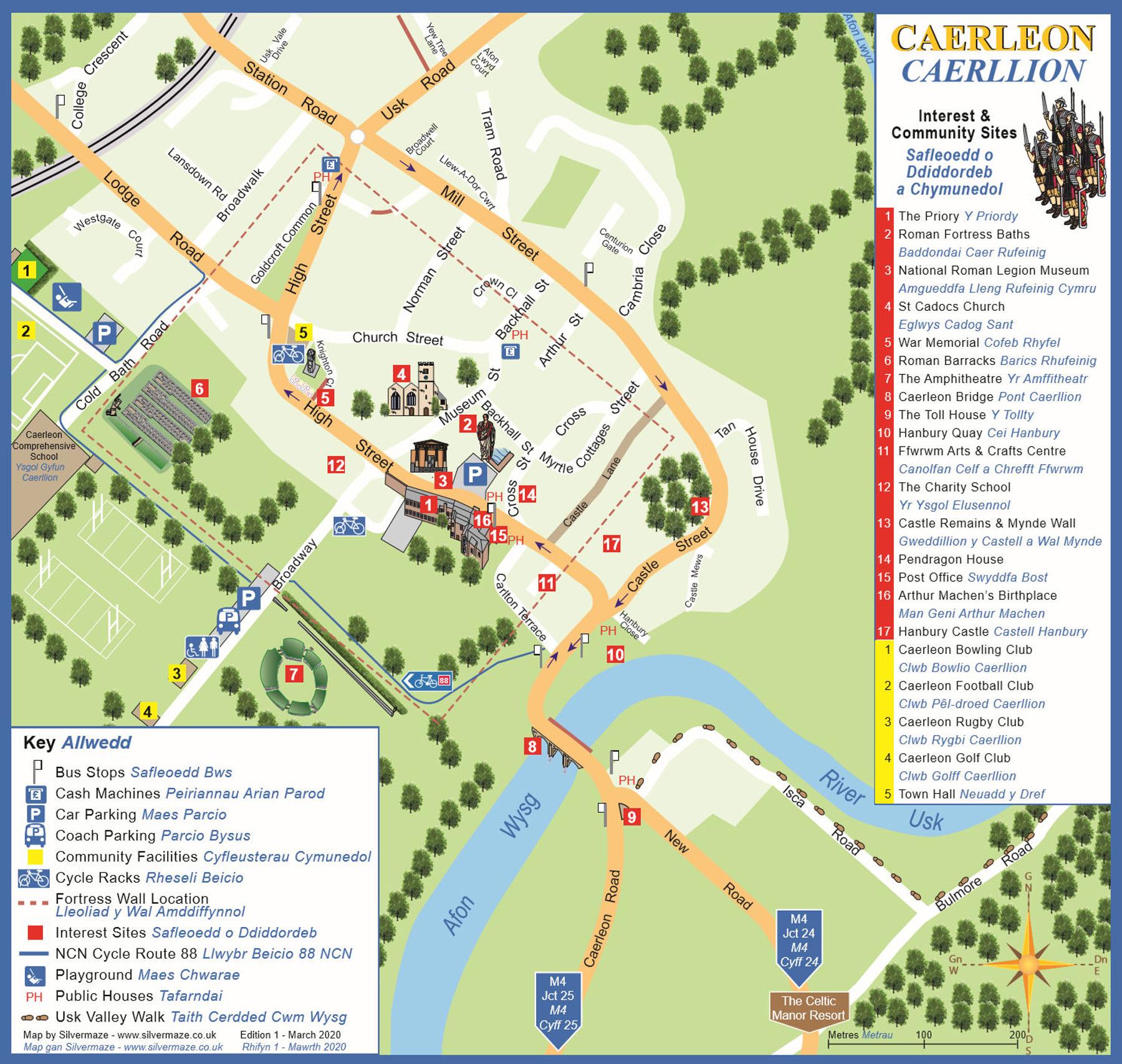 The Roman town of Caerleon