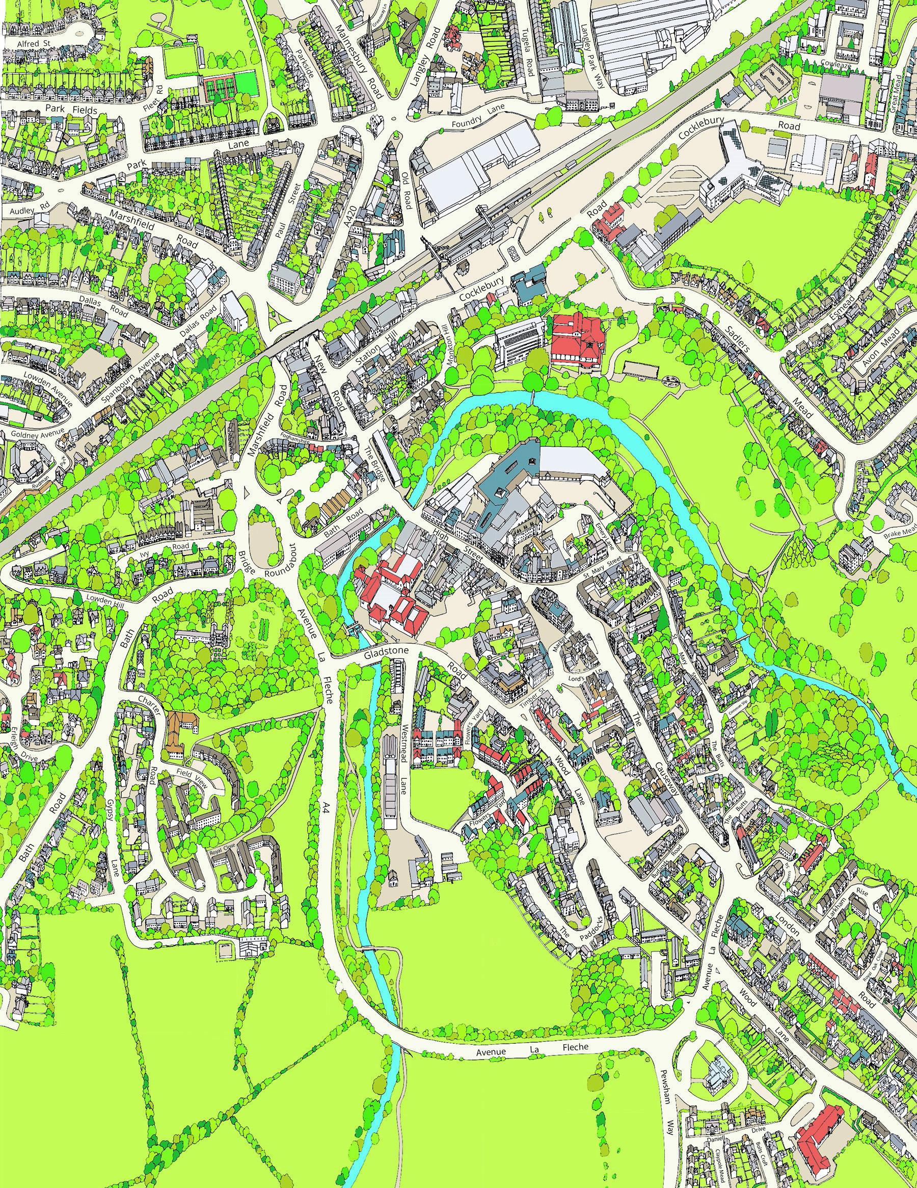Chippenham Map